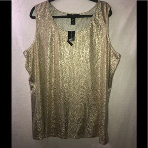 NEW Ashley Stewart Women's Metallic Tank Size 26